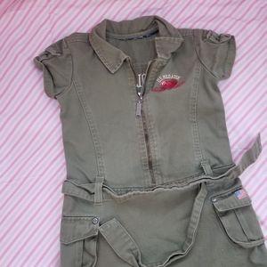 Polo green skirt jumper toddler girl